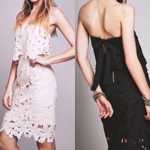 SAYLOR for Free People Strapless Black Dress